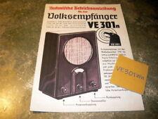Accesorios destinatarios popular ve 301 wn manual de instrucciones