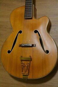 Alte Gitarre Guitar Framus von 1959 Schlaggitarre Archtop Made in Germany