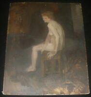 Original Oil Painting On Board Nude Woman Royal Academy Of Art Jenifer Cooper