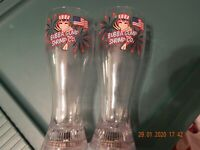 BUBBA GUMP SHRIMP CO. LIGHT UP 4TH OF JULY SET OF TWO DRINK PLASTIC CUPS