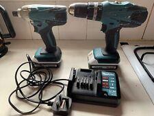 Makita 18V Cordless Combi Drill & Impact Driver Set HP457D & TD127D