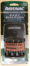 New Rayovac Rechargeable Battery Easy Charger Aa/Aaa~Charges Any NiMh Battery