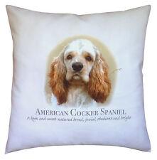 American Cocker Spaniel Dog   100% Cotton Cushion Cover Zip   Howard Robinson