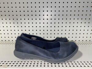 Skechers Go Walk Lite Gem Womens Athletic Slip On Walking Shoes Size 8.5 WIDE