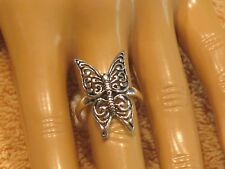 4.41gms INDONESIAN BALI JAVA ISLAND 925 SILVER BUTTERFLY RING SIZE 8 E73006