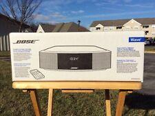NEW BOSE WAVE RADIO IV * SILVER * AM/FM * AUX * No CD * NIB * Factory-Sealed