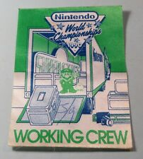 1990 Nintendo World Championship Working Crew Pass Super Mario Stage RARE