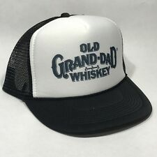 Old Grand-Dad Whiskey Trucker Hat Mesh Vintage  Snapback Party Grandpa Cap Black