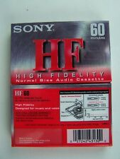 Sony HF600 Audio Cassette Tape High Fidelity Normal Bias Position 60 Minute New