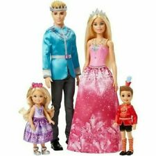 Barbie Family Dreamtopia 4 Dolls Barbie Chelsea Ken and Notto Playset Toy - NEW