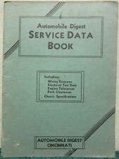 Vintage 1933 Automobile Digest Service Data Book Manual