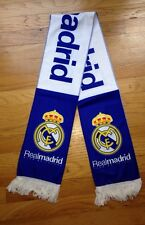 "Real Madrid FC Fleece Soccer Football  Scarf Flag Reversible  7"" x 53"""