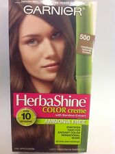 Garnier Herbashine Haircolor Creme ( #500 Medium Natural Brown ) AMMONIA FREE.