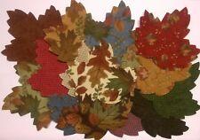 Flannel Leaves fabric scraps Pack remnants patchwork bundles 100% cotton