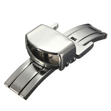 12-22mm Stainless Steel Butterfly Deployment Clasp Watch Strap Buckle