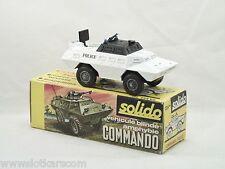 """Solido Militaire 224 bis Commando """"Police"""" blindé near mint boite (#A3c)"""