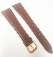 Speidel Genuine W-Germany Leather Brown Tone 19mm Gold Buckle Watch Band
