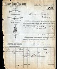 """PARIS (II°) BRODERIES ETOFFES d'AMEUBLEMENT """"PILON , HUET & RIGOTARD"""" en 1890"""