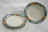 4 INTRO STONEWARE ORCHARD TIENSHAN FRUITS SALAD SOUP CEREAL DESSERT BOWLS 7-3/4""