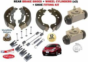 FOR NISSAN NOTE 2006-2013 BACK REAR BRAKE SHOES + WHEEL CYLINDERS + FITTING KIT