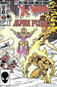 X-Men And Alpha Flight Comic 1 Copper Age First Print 1986 Chris Claremont Smith