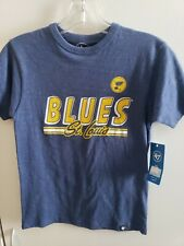 🔥🔥St. LOUIS BLUES '47 Tshirt Kids Youth Small New!FAST SHIPPING!🏒
