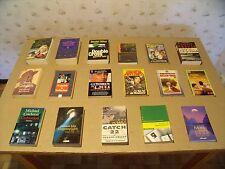 17 x Paperback Bücher, Romane, Thriller, Abenteuer, Science Fiction