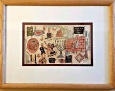 """Vintage Framed Print Jewish """"TRADITION"""" By Goldfarb Limited Ed Signed #207/950"""