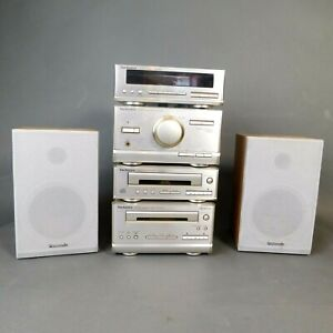 Technics SE HD301 Micro Hifi System CD Cassette Tuner & Speakers RTG/JP