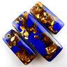 3PCS Blue Lapis Lazuli &Gold Copper Bornite Stone Pendant Bead Set