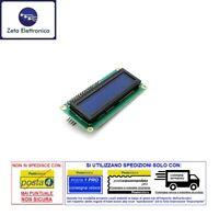 DISPLAY LCD 16x2 1602 BLU RETROILLUMINATO LED + MODULO II2 / I2C SERIALE ARDUINO