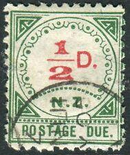 NEW ZEALAND-1899 ½d Carmine & Green POSTAGE DUE Sg D1 FINE USED V17921