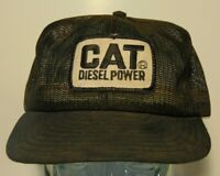 Vintage 1970s CAT Diesel Power Trucker Hat Snapback Cap Louisville Mfg USA Patch