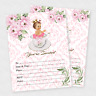 Girl Baby Shower Invitation Tea Baby Shower Invite Luncheon Birthday Princess 20