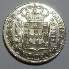 Portugal D. João P.R. 400 Reis (Cruzado) 1815 AMAZING CONDITION