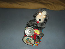 Vintage Rare1950s Battery Op Dandy The Happy Drumming Dog Pup Alps Made In Japan
