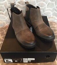 Sorel Women's Size 8 Emelie  Chelsea Quarry Gray Black Waterproof Boot