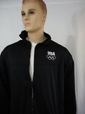 Us Olympic Committee Usoc Xl Unisex Team Jacket Full Zip Front Black/Navy Blue