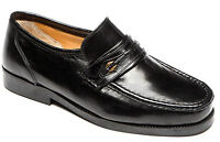 Mens Extra Wide Fitting Leather Upper & Lining Moccasin Slip On Shoes Size 6-12