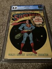 SUPERMAN #53 CGC 8.0 OFF WHITE TO WHITE PAGES CANADIAN EDITION-ORIGIN RETOLD