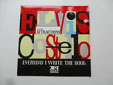 "Elvis Costello & The Attractions ‎– Everyday I Write The Book Vinyl 7"" UK83 XX32"