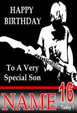 KURT COBAIN NIRVANA GUITAR Personalised Birthday Card! ANY NAME / AGE!! COOL (1)