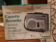 Radio Shack Ctr-122 14-1129 Cassette Recorder New in box voice activated Vox