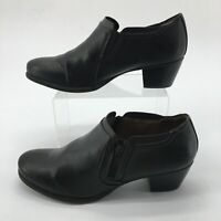Natural Soul Womens 9.5M Kasta Side Zip Ankle Boots Booties Black Faux Leather