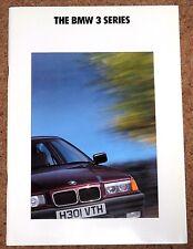 1991 BMW 3 SERIES (E36) Sales Brochure - 325i, 320i, 318i, 316i - Excellent Cond