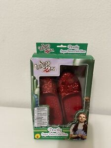 Rubie's The Wizard of Oz Dorothy Red Sequin Shoes Halloween Girls Size Med 13-1