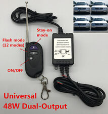 48W Dual-Output LED Flash Strobe Controller Flasher Wireless Remote Control Kit