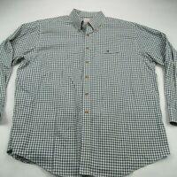 Brooks Brothers Mens Shirt Oxford Green Button Down Collar 346 XL Long Sleeve