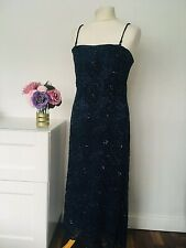 PHASE EIGHT Dress Size 14 Navy BLUE | Lace Beaded Wedding Cruise Party Occasion