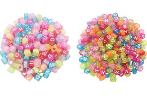 100Pcs Alphabet/Letter Acrylic Spacer Loose Beads Jewelry Making DIY Necklace